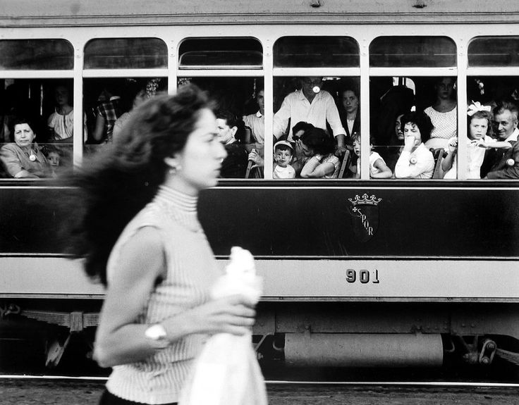 William Klein. Girl & Trolly Car 1956 Rome http://lens.blogs.nytimes.com/2013/03/15/william-kleins-paint-and-light-show/?_r=0