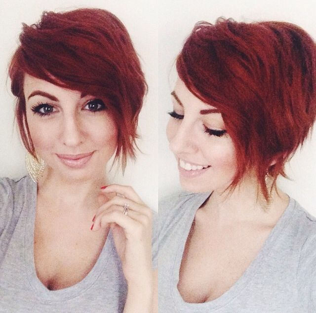 ONE little MOMMA: New Hair- Ombre Asymetrical Long Pixie Cut !