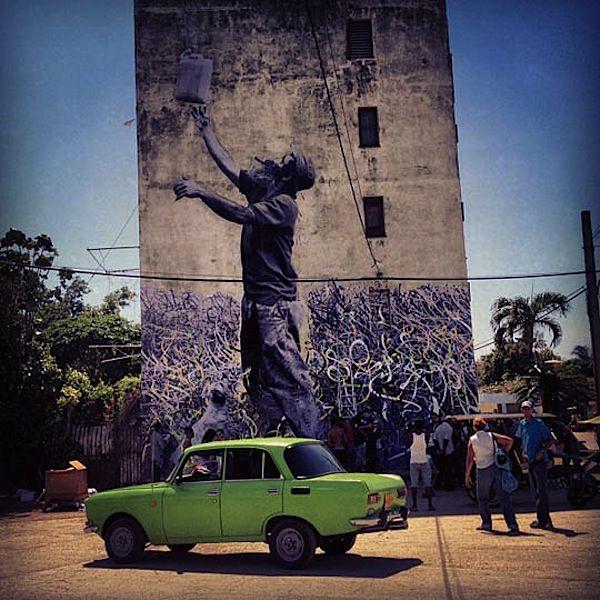 Street art: JR @ Havana Biennale Cuba