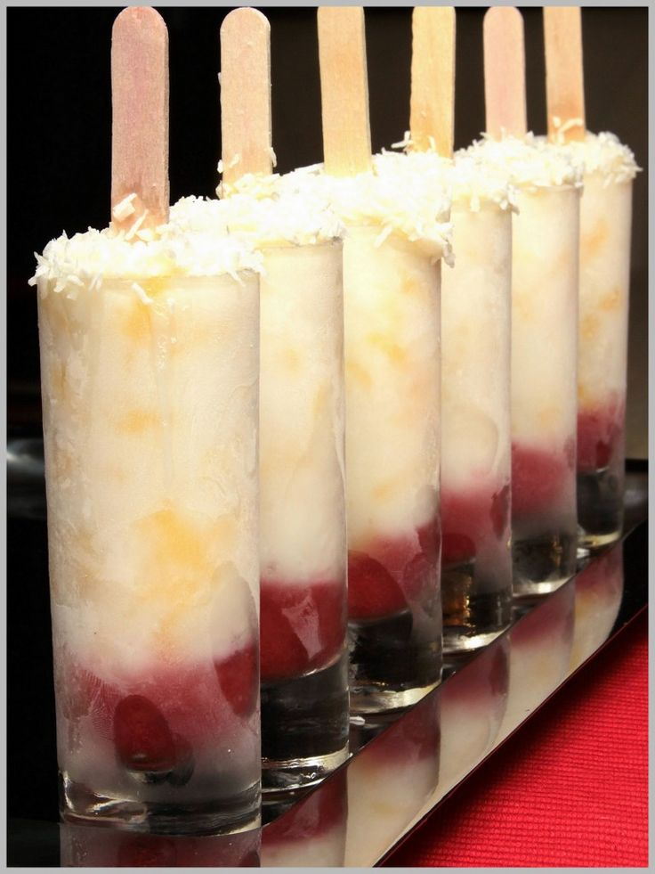 Strawberry-Pineapple Yogurt Ice Pops Recipe — Dishmaps
