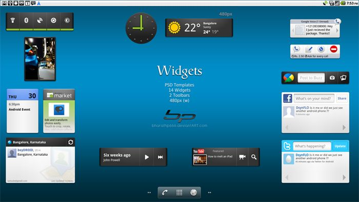 Free Android: Widgets UI Kit - http://www.vectorarea.com/free-android-widgets-ui-kit