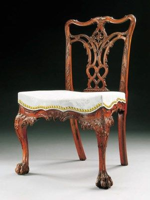 1769 Chippendale dining chair, attr Benj Randolph, Phila, PA, J Cadwalder family, mah, 37t, 99-1.4m