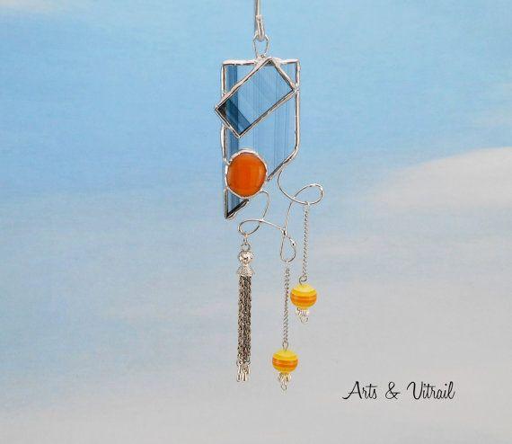 Bijou de fenêtre attrape-soleil 6 haut 14.4 cm  par ArtsVitrail