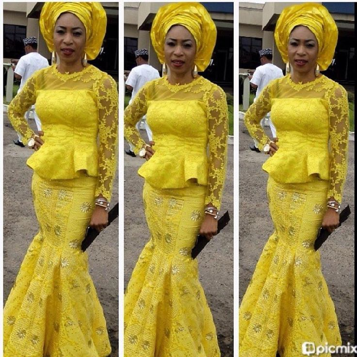 Yellow Lace Latest African Fashion African Prints African Fashion Styles African Clothing