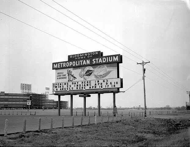 1963 Opening day at Metropolitan Stadium home of the Twins.
