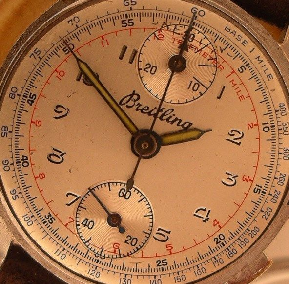 1177  VINTAGE BABY BREITLING CHRONOGRAPH CHRONO, UP & DOWN, VENUS 170 CAL #BREITLING #baby