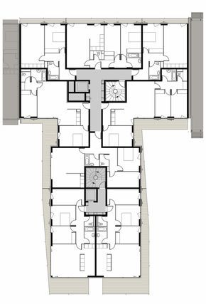 Rectangle Hotel Room With Ensuite Floor Plan