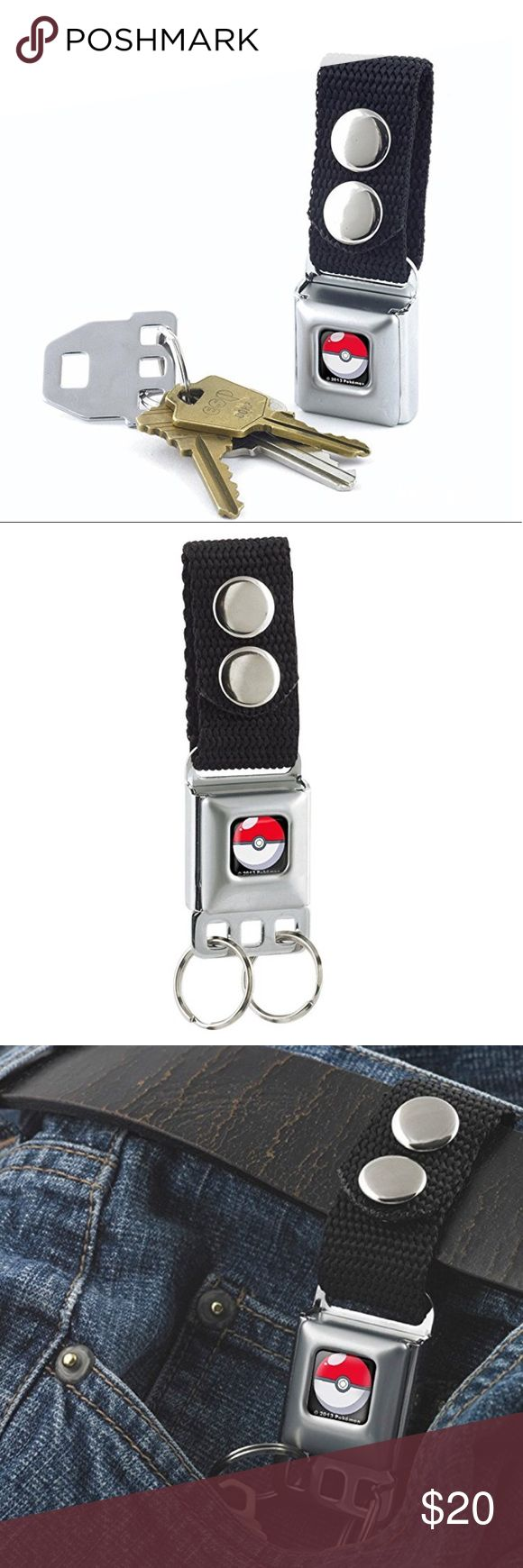 Seatbelt keychain Pokémon Official Licensed Product This keychain conveniently releases your keys with a push of the button. Two snaps on the 1 inch nylon webbing make it easy to attach to your belt, purse, sports bag, etc This is a very unique item and is sure to catch the attention of everyone around. It is made with a miniature seatbelt buckle clasp and really works! Product information Package Dimensions7.8 x 1 x 0.4 inches Item Weight2.4 ounces BUCKLE DESIGN Accessories Key & Card…