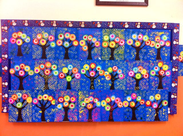 Kandinsky Trees- just in time for arbor day