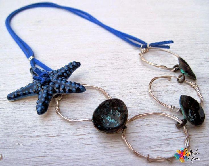 MagikeMani: stellamarina  necklace, silver, ceramics