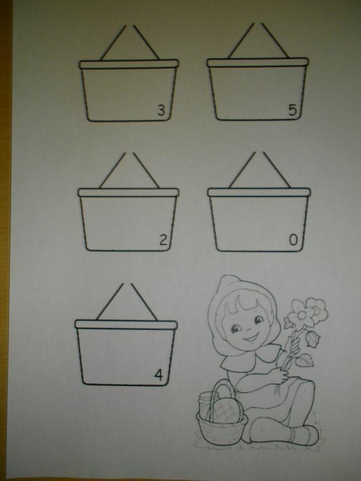 Leg evenveel bloemen in het mandje *liestr*