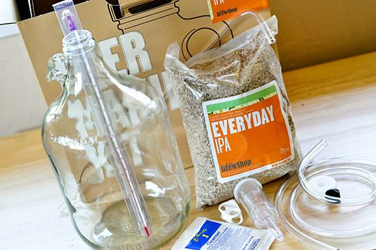 one gallon homebrew kit - This is a great idea for people that are considering getting in to brewing their own beer.