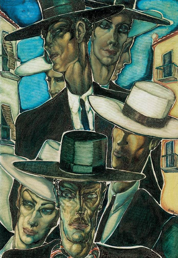 Spanish Men, 1930 by Gyula Batthyány (Hungarian 1887-1959)