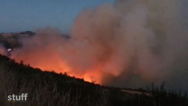 Fire on Port Hills