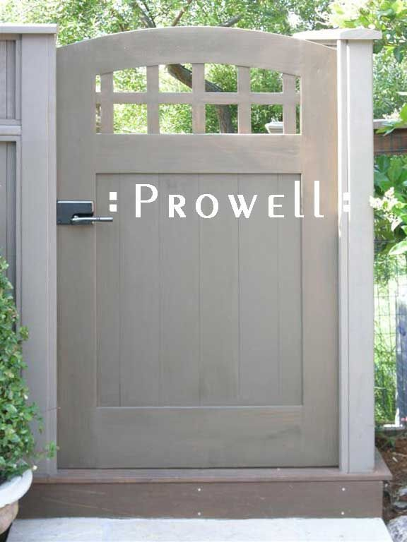 Prowell Woodworks' Premier Garden Gate #20 - B loves this chunky craftsman style. Looks like the gates he has built.