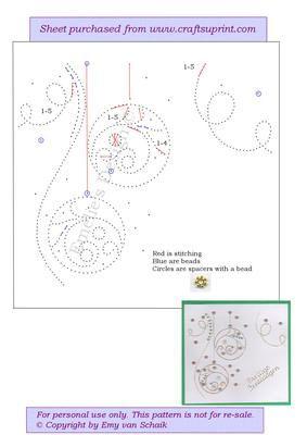ED074 X mas baubles on Craftsuprint designed by Emy van Schaik - Stitching with…