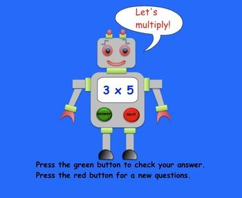 Multiplication Robot Freebie for Smartboard
