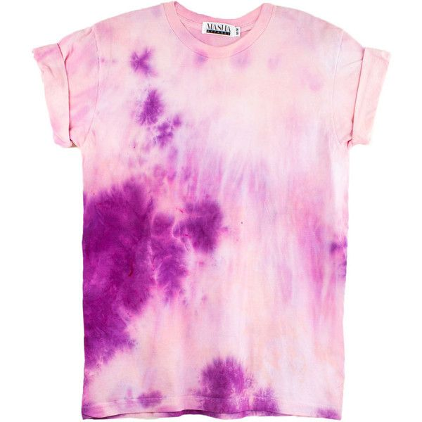 Pink Tie Dye T-Shirt UNISEX SIZE Women's Pink shirt, Bachelorette... ($25) ❤ liked on Polyvore featuring tops, t-shirts, shirts, tie dyed t shirts, tye dye shirts, cotton t shirts, tie-dye shirts and beach t shirts