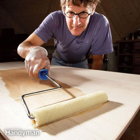 These tips and techniques for applying oil-based polyurethane produce virtually flawless results. They include using a roller, using wipe-on poly and above all controlling dust.