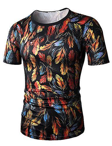 1435678b671 13.59  Men s Sports Active   Basic Plus Size Cotton Slim T-shirt ...