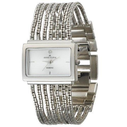 Anne Klein Women's 10-7209SVSV Diamond Accented Silver-Tone Bracelet Watch: Watches: Amazon.com