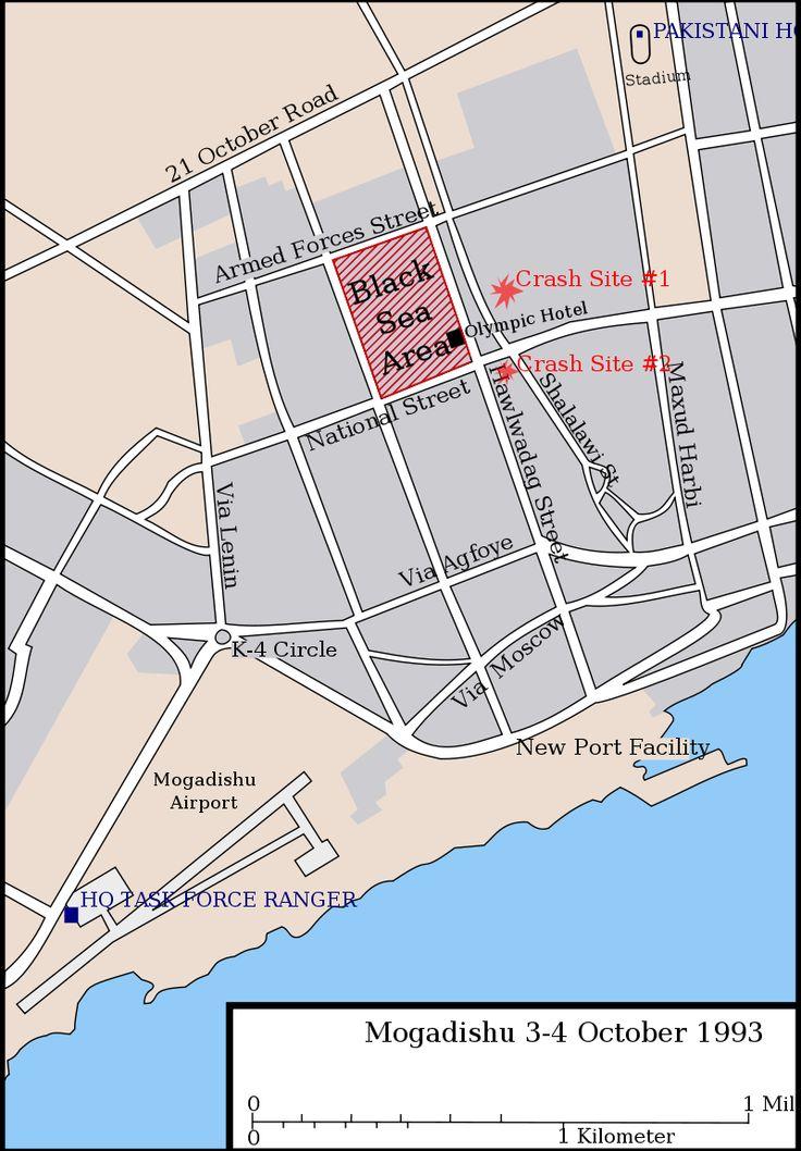 Battle of mogadishu map of city - Battle of Mogadishu (1993) - Wikipedia, the free encyclopedia