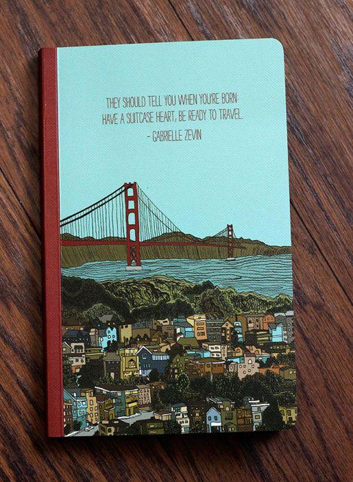 Etsy Finds: Hero Design Studio: Journals, Quote, Inspirational Journal, Travel Themed, Suitcase Heart, Design Studios