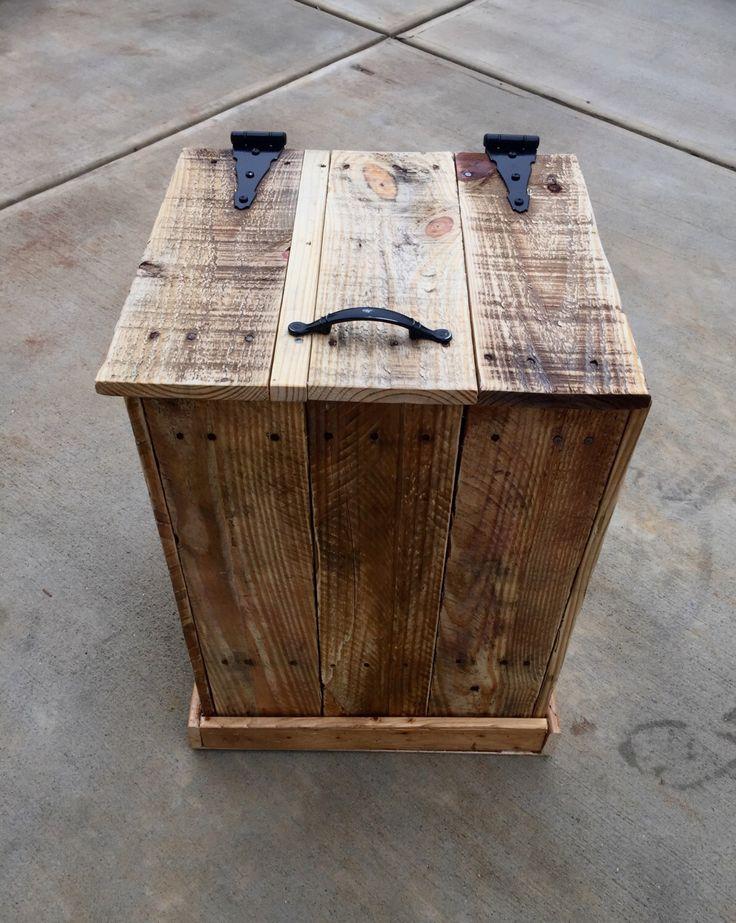 Rustic Trash Disposal or Hamper Decor by TheRusticWarehouse on Etsy https://www.etsy.com/listing/250401471/rustic-trash-disposal-or-hamper-decor