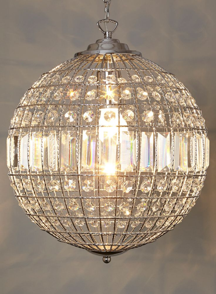 Ursula small crystal ball pendant light view all lighting bulbs home lighting furniture bhs