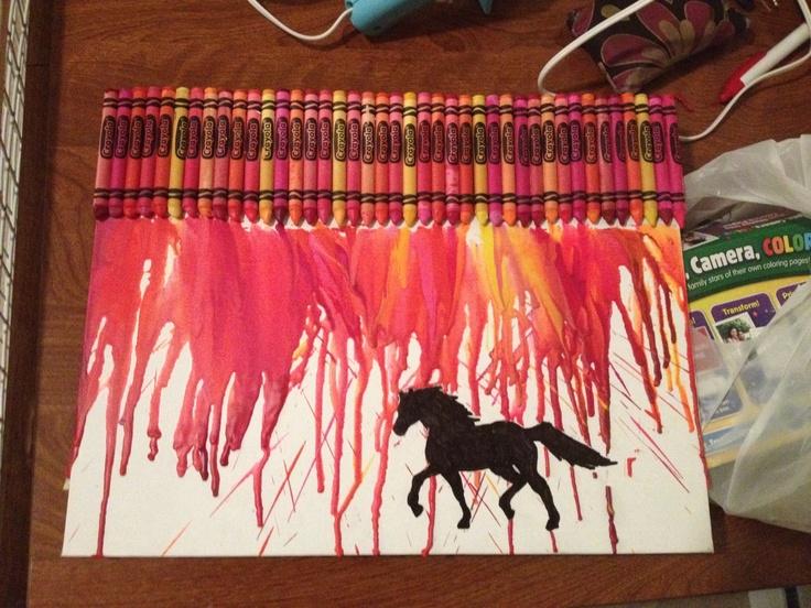 Horse crayon art