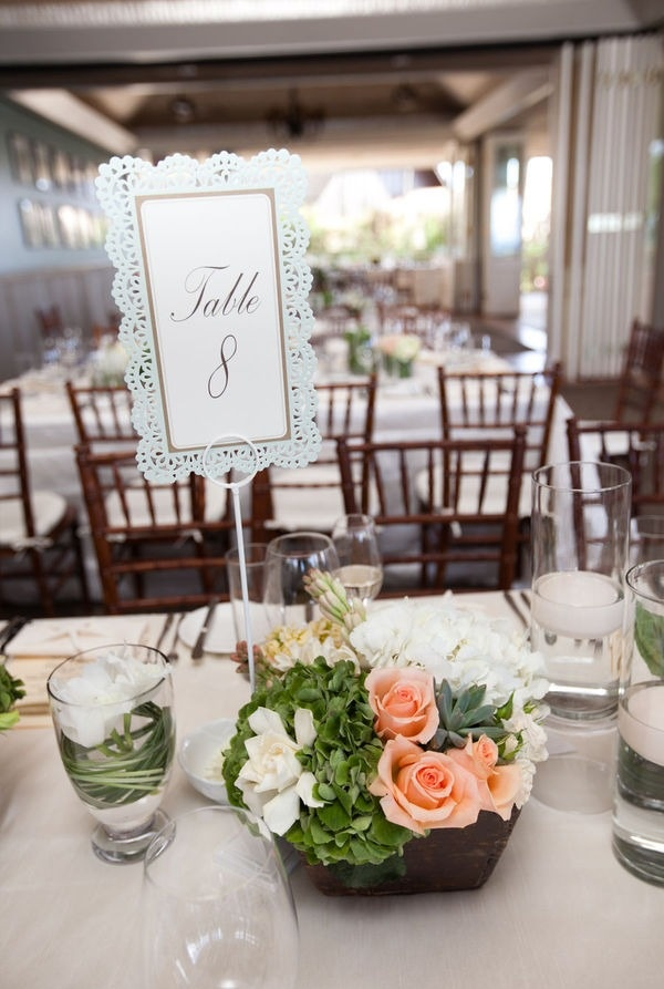for a spring wedding table set up