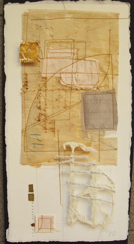 Blanca Serrano Serra - paper, silk, brass and gold  / mixed media collage