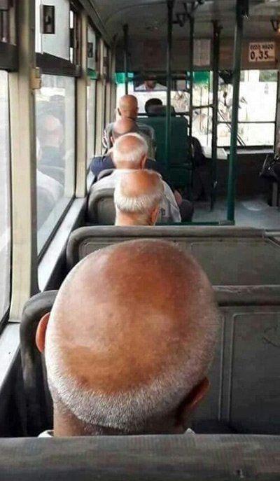 バス内で惑星直列を観測