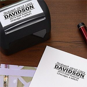 Personalized Self-Inking Address Stamper Perfect for our thank you cards