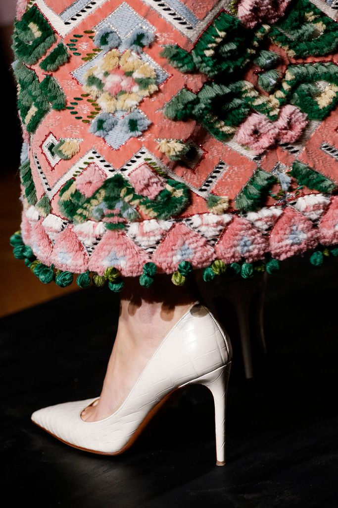Valentino Fall 2013 Couture Collection Slideshow on Style.com what is it weaving? Or embroidery?