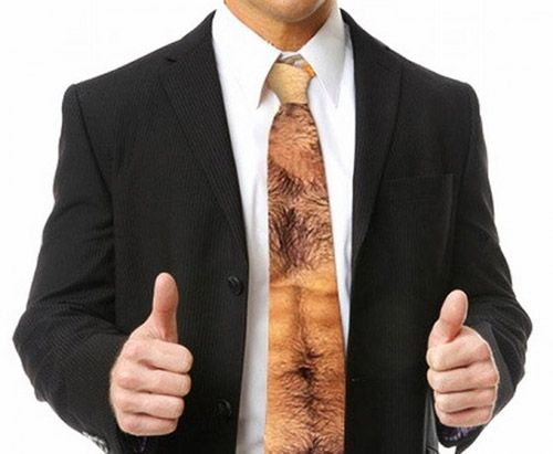 The OPUS Perfect Hairy Chest and Stomach Tie from zazzle. Yuck