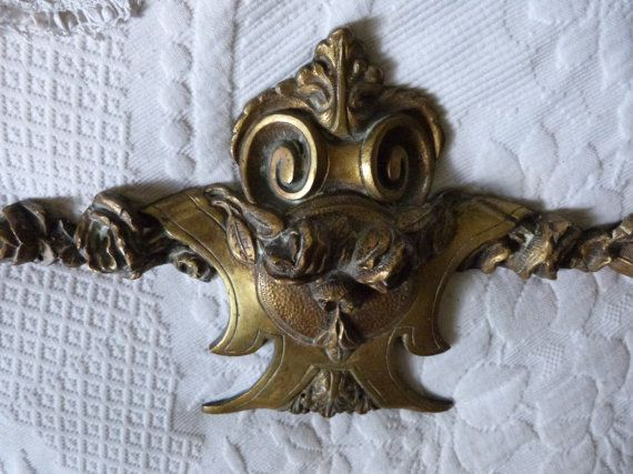 ✔❀ Antique French #bronze furniture hardware, 1800s french hard ware carto... Guaranteed! http://etsy.me/2AGR4tN