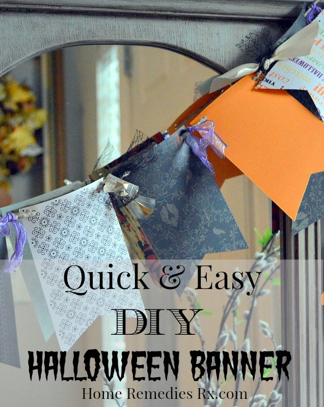 quick and easy diy halloween banner tutorial - Quick And Easy Halloween Decorations