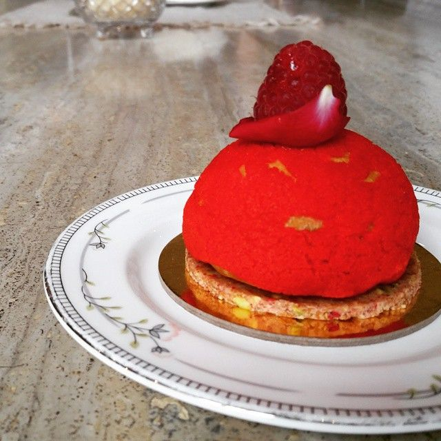 Our Rose & Strawberry Choux is just as pretty as you! #choux #dessert #hightea