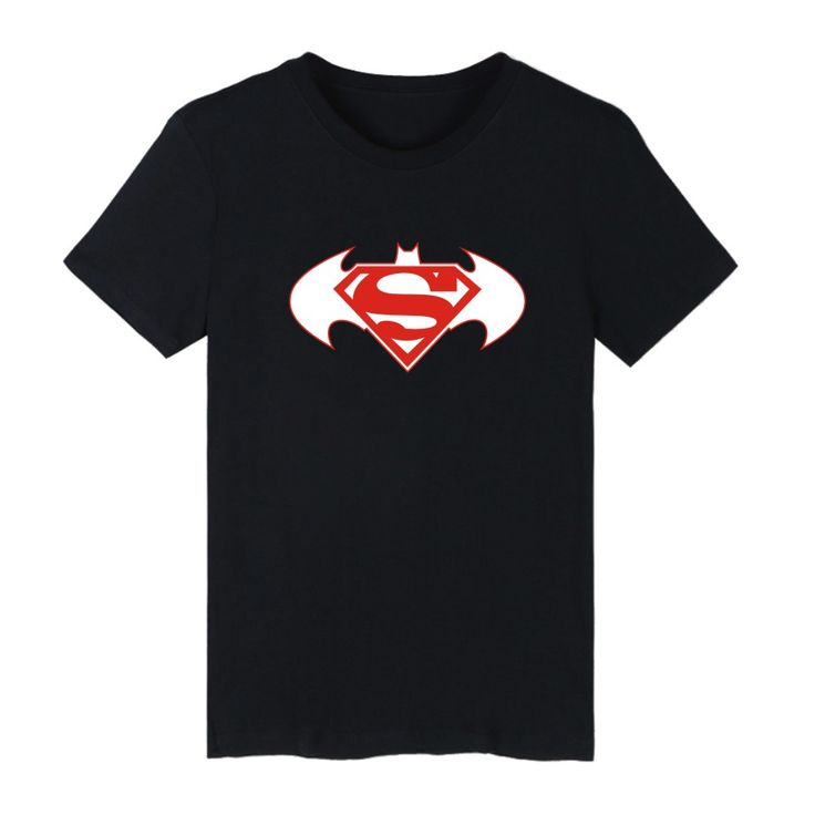 Plus size 4XL Men Tshirt Old Superman VS Batman Black Cotton T-shirts Mens and Super Saiyan Print Funny in Tees and tops Couples #Affiliate