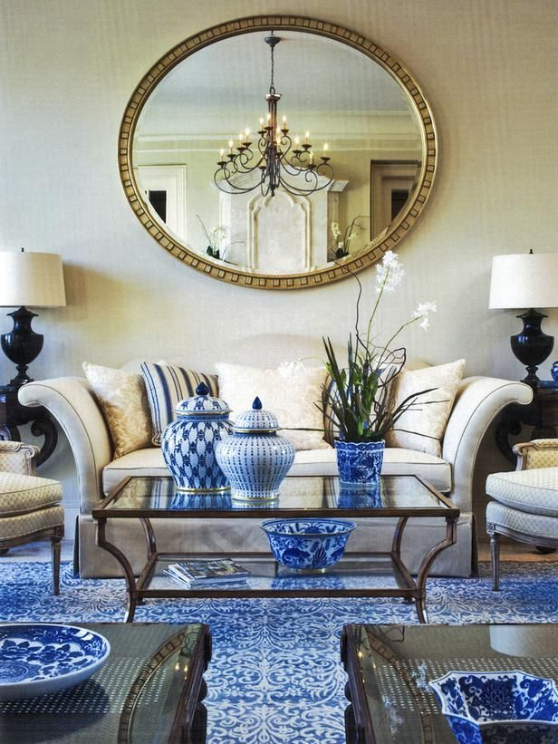 neutrals with blue and white