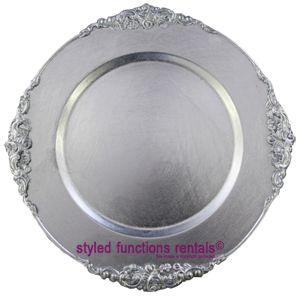 Silver Baroque Underplate - R6.50 each