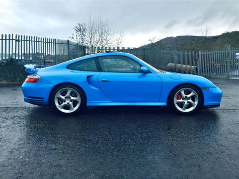 2001 Porsche 911 (996) Turbo - Irresistible in Riviera blue and an estimate of £24-26,000.