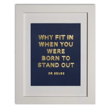 Dr Seuss - navy Papier d'Amour foiled prints range http://www.papierdamour.com.au/shop-by-category/foiled-prints.html