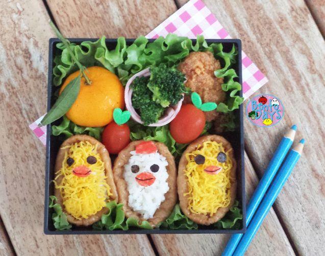 Hen and Chicks Inari sushi   Bento Days