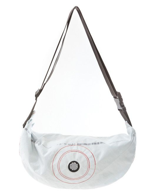 Berlin Handmade Upcycled airbag vegan messenger bag. Eco fashion Waterproof recycled airbag bicycle bag