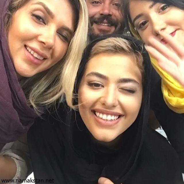 عکس ریحانه پارسا به همراه عوامل سریال پدر Persian Girls Persian Women Iranian Women