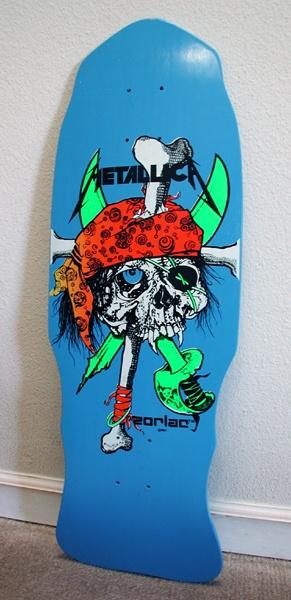 Metallica blue pirate zorlac deck