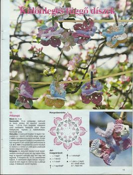 horgolt virág minta 13