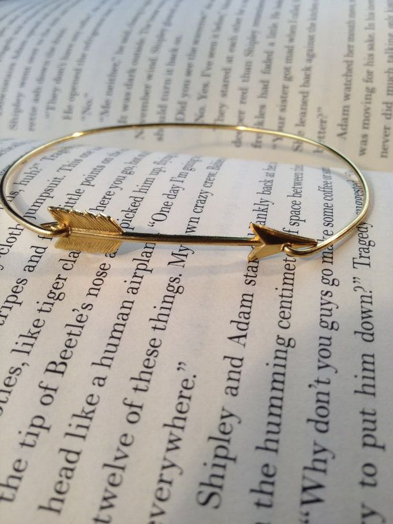 Arrow Bangle Bracelet- Simply Gold Arrow- Hunger Games Inspired Jewelry- Bridesmaids Gifts- Minimalist Jewelry- Gold Casual Jewelry